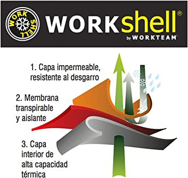 2 Cintas Reflectantes Work Team Workshell Combinado con Alta Visibilidad Hombre