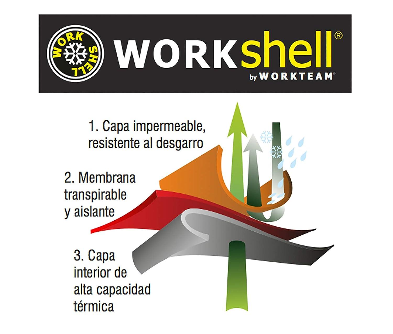 2 Cintas Reflectantes Hombre Work Team Workshell Combinado con Alta Visibilidad