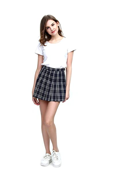 6aeae10bff Fashion World Women High-Waist Pleated Mini Skirt with Soft Shorts  Underneath
