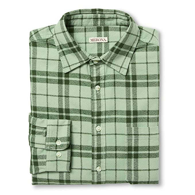 b463819ab4a Merona Men's Button Down Shirts Mesmerising Green (Medium) at Amazon ...