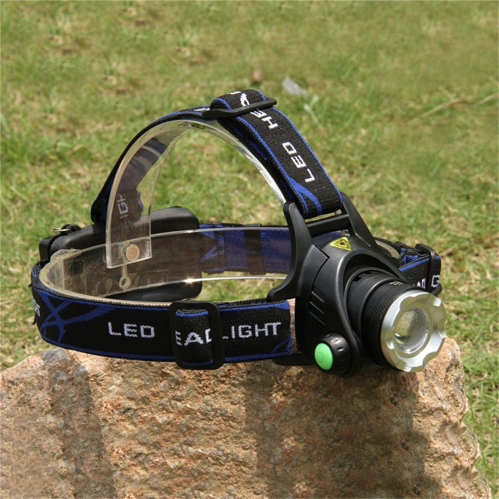 GS High Power CREE XML-T6 Led Headlight Waterproof Zoomable LED Headlamp Head Lamp Torch Frontale Headlight For Hunting Fishing Camping by G&S (Image #2)