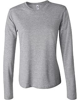 9e5a6177a Bella Women's Long Sleeve Crew Neck Jersey T-Shirt B6500 at Amazon ...