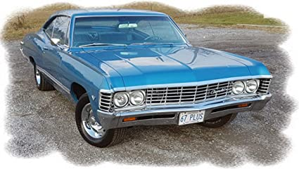 Old Chevy Cars >> Amazon Com 1967 Chevrolet Chevy Impala Sky Blue Metallic Picture
