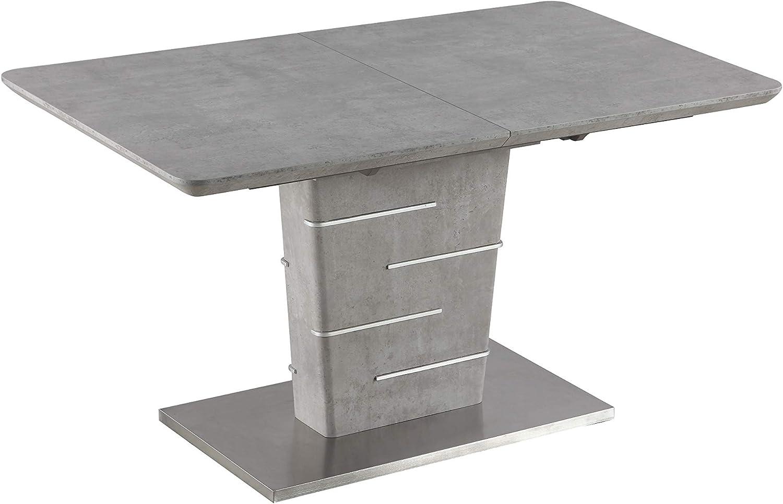 Milan Justine Dining Table, Gray