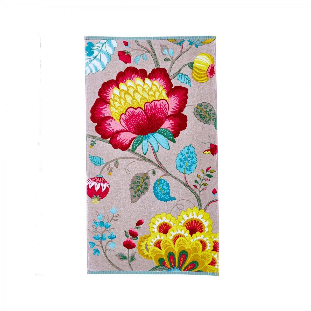 Pip Studio 260256201001 Floral Fantasy-Toalla algodón, 30 x 50 cm, 100% algodón, blanco, 30 x 50 cm