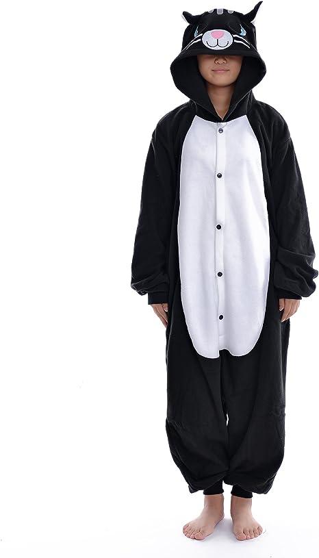 DAYAN Black Cat Unisex Pijamas Adulto Anime Cosplay Ropa ...