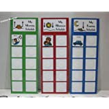 "DAILY PECS PICTURE SCHEDULE W/ 3 CHARTS AND 45 COLORFUL ""PEC"" PICTURES FOR CHILDREN/ADULTS W/ AUTISM, SPEECH DELAYS"
