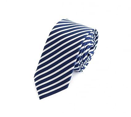 Corbata de Fabio Farini en azul blanco: Amazon.es: Ropa y accesorios