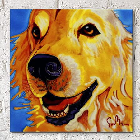 Golden Moments by Simon Bull, 8x8 Decorative Ceramic Picture Tile ...