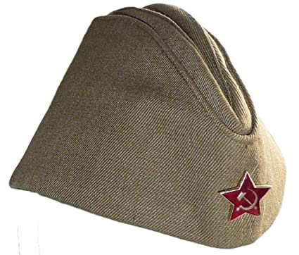 044f95b70 Russian Army Pilotka Garrison Cap, with Soviet Red Star