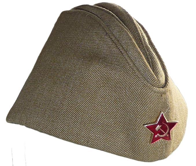 ff0c6f2003c Amazon.com  Russian Army Pilotka Garrison Cap 62 Soviet Red Star ...