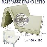 Materasso per divano letto 160x190 prontoletto con piega for Divano letto 160