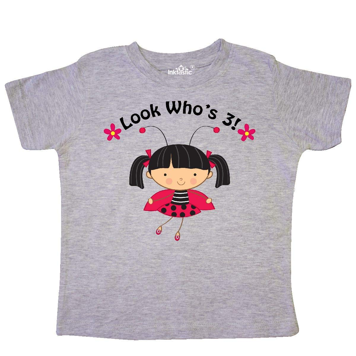 inktastic 3rd Birthday Ladybug 3 Year Old Girl Toddler T-Shirt