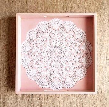 Verkauf, 50% OFF, Old Rose Holz Tablett, Crochet Muster, sehr Mangel ...
