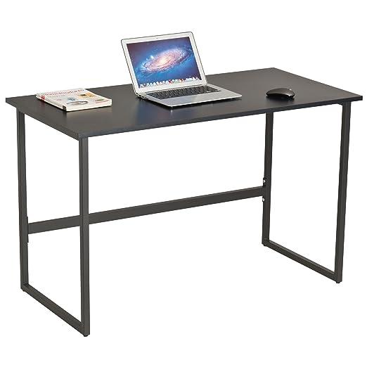 Mesa escritorio para escritura y ordenador, en color negro ...