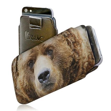Amazon.com: Wild Animals 149, Brown Bear, Embossed Black PU ...