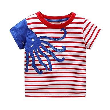 d2334ab4e325 KaloryWee Unisex Kids Boys Tops Pullovers Sweater Blouse Cartoon ...
