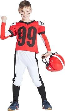 Banyant Toys, S.L. Disfraz DE Jugador DE Rugby Rojo: Amazon.es ...