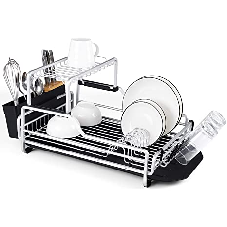 Amazon.com: Escurreplatos de cocina de acero inoxidable ...