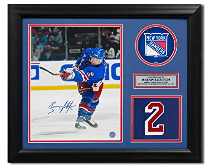 Brian Leetch New York Rangers Autographed Autograph Retired Jersey Number  23x19 Frame - Certificate of Authenticity ae7708ff3