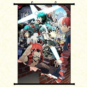 Wernerk My Hero Academia Izuku Midoriya Deku And Bakugo Katsuki And Todoroki In Poster Eraser Posters Wall Decoration 30x45 Cm