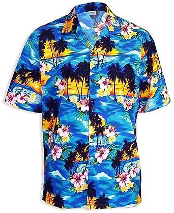 410457c83 Hawaiian Shirt Paradise Sunset Island Aloha at Amazon Men's Clothing store:  Button Down Shirts