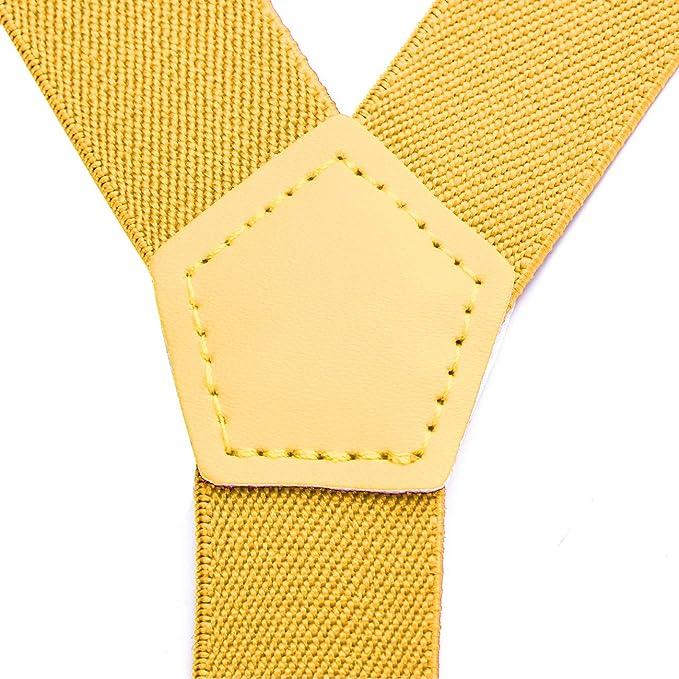 DonDon niños tirantes amarillo 2 cm estrecho longitud ajustable ...