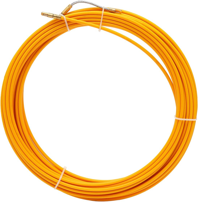 20M CHIMAKA 10M das Rodder zieht Neues DIY Zubeh/ör 30M 6mm Fiberglas-Kabelabzieher-Fisch-Bandspulen-Rohrleitung Color : 10M