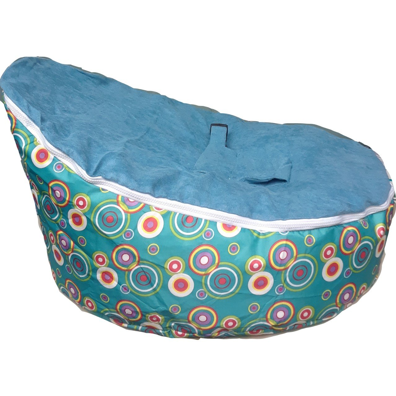 Babybooper Soft Baby Cozy Sitting Chair Nursery Pillow Safe Bean Bags, Till Green, One Size