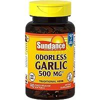 Sundance Odorless Garlic 500 mg Tablets, 90 Count