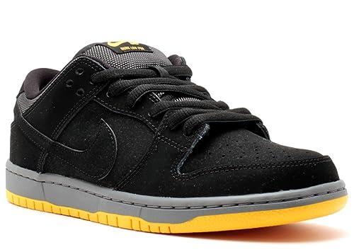 new style d12d2 0ff74 NIKE Mens Dunk Low Pro SB Black Black-University Gold Synthetic Size 4  Skateboarding