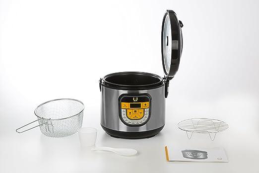 GM Olla programable modelo Beta, 1500 W, 5 litros, Plata: Amazon.es: Hogar