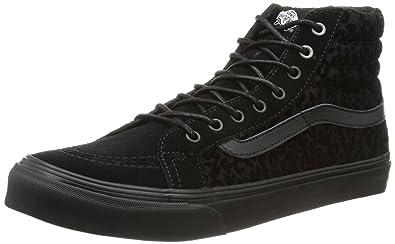 U Sk8-Hi Slim, Baskets mode mixte adulte - Noir (Cheetah Black), 34.5 EU (035/3.5 US)Vans