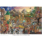 Poster Tom Masse Magical Mystery Tour of 100 Beatles Songs Music Print - 32x22