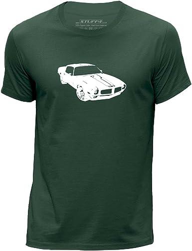 STUFF4 Men/'s White Round Neck T-Shirt//Stencil Car Art 1970 Camaro Z28//SZ