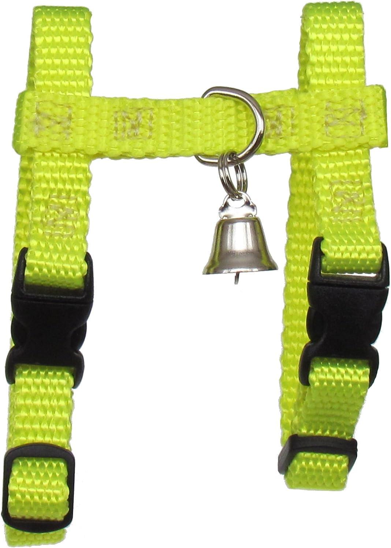 Ferret Harness Set with Leash Lemon Yellow Adjustable