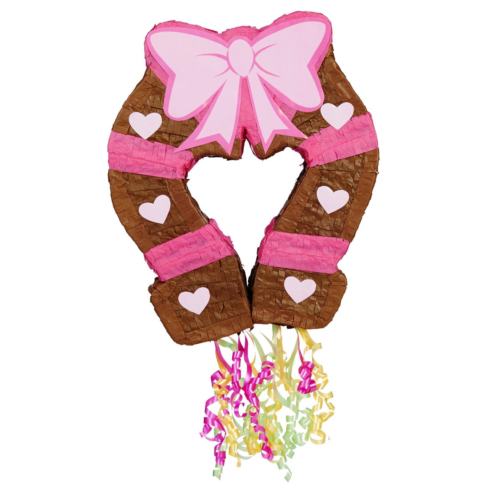 BirthdayExpress Pink Cowgirl Party Supplies - Horseshoe Pinata by BirthdayExpress