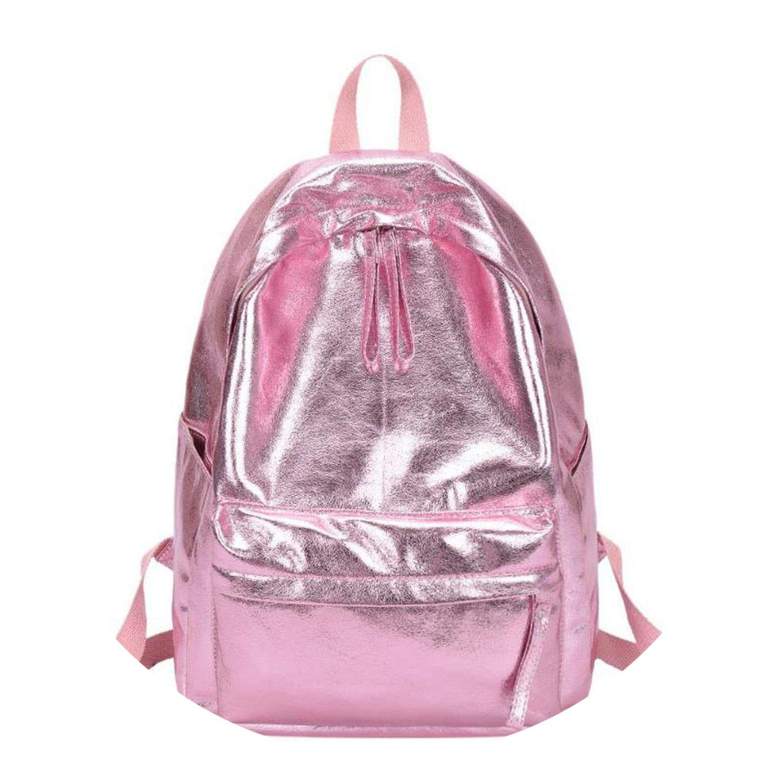 Amazon.com: on Teenager Girls Chain School Backpack PU Leather Shoulder Backpack Travel Ksack Mochilas 2018,Pink,A: Shoes