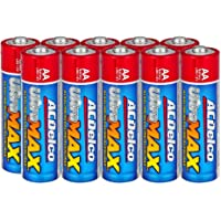 ACDelco UltraMAX 10-Count AA Batteries, Alkaline Battery with Advanced Technology, 10-Year Shelf Life, Recloseable…