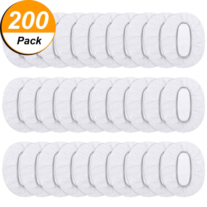 Clear Disposable Ear Protectors Waterproof Ear Covers for Hair Dye, Shower, Bathing (200)