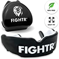 FIGHTR Premium Mouth Guard max.Oxygen and Safety + Easy fit | BPA Free Gum Shield incl. Case | Boxing, MMA, Muay Thai, Rugby