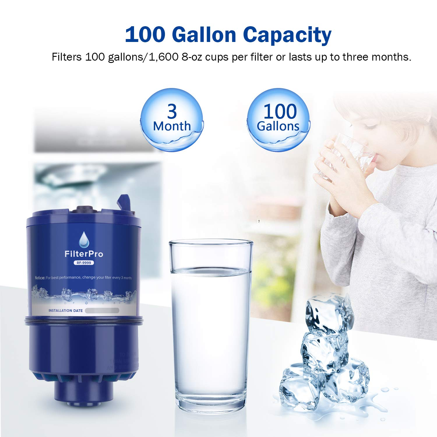 FilterPro Replacement for Faucet Water Filter Pur RF-9999 3 Pack
