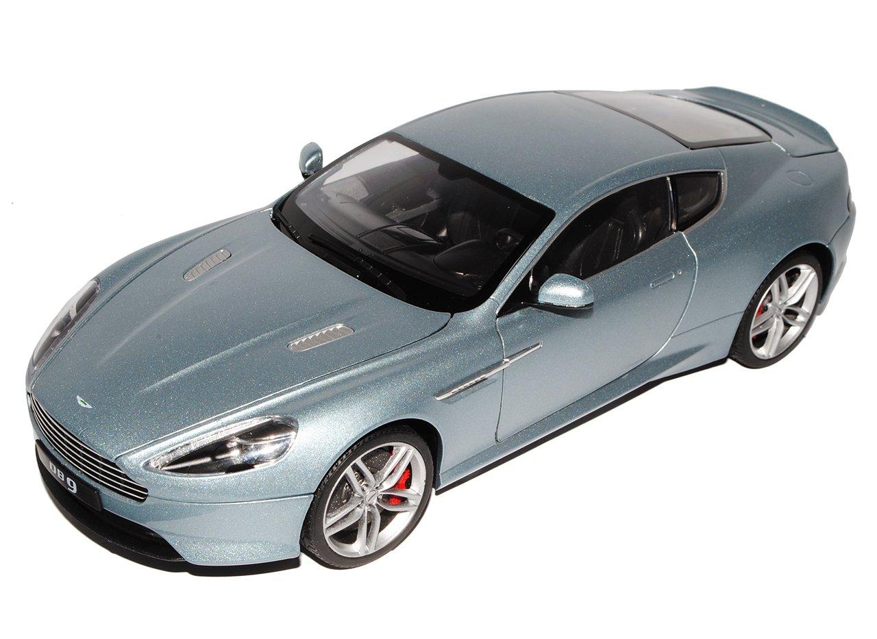 Welly Aston Martin DB9 Silber 1/18 Modell Auto mit individiuellem Wunschkennzeichen
