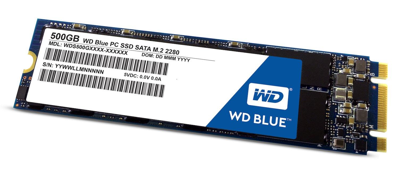 WD Blue SSD M.2 - Disco duro sólido de 500 GB (SATA III 6 GB/s, 200, M.2 SATA, lectura secuencial de hasta 545 MB/s, y 525 MB/s escritura)