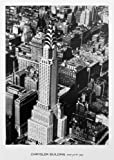 """Vintage Cityscape Photo Poster USA """"Chrysler Building, New York, 1935"""" - Black and White Wall Art Office Decor Print (16x22 inches)"""