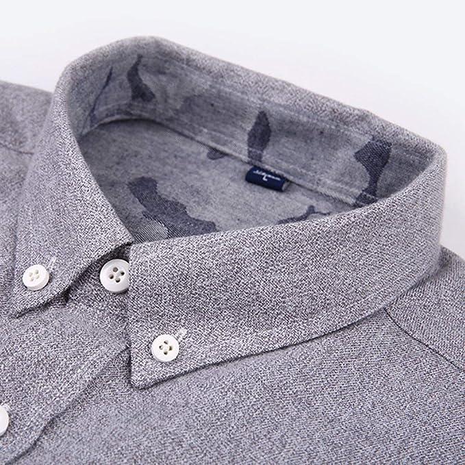 Camisas Hombres, Traje de Oficina para Hombre, Talla Grande Camisas Hombres, Manga Larga Slim Fit Blusas Cuello de BotóN Moda Negocio Ocio Camisa de Manga Larga Tops Blusa: Amazon.es: Ropa y accesorios