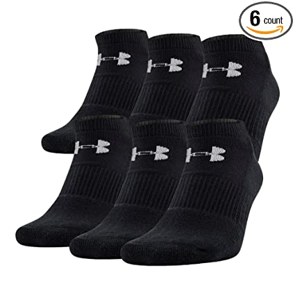 da8bee41d93 Amazon.com  Under Armour UA Charged Cotton 2.0 No Show Socks – 6 ...