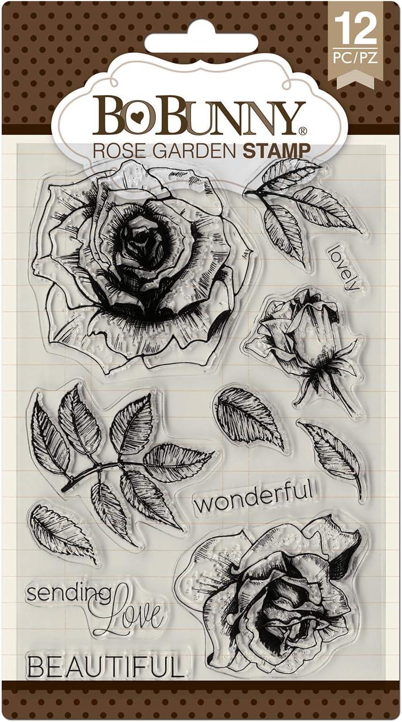 Bo Bunny Rose Garden Stamps, Multi