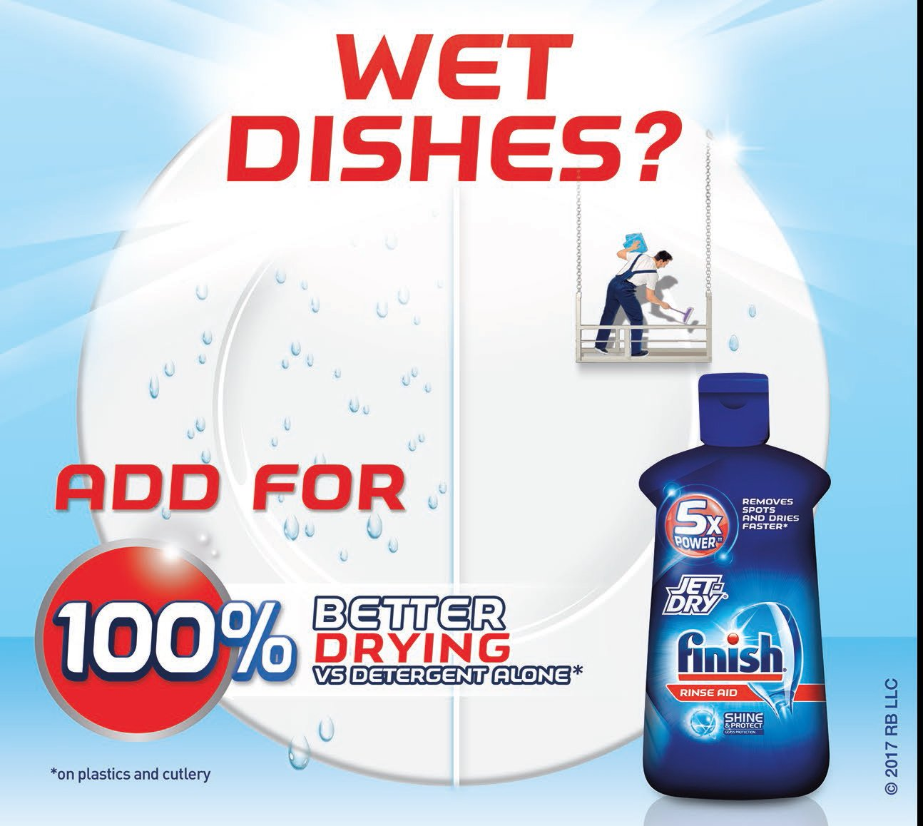 Finish Jet-Dry Solid Rinse Aid, 2.68 oz, 2 Baskets, Dishwasher Rinse Agent & Drying Agent by Finish (Image #2)