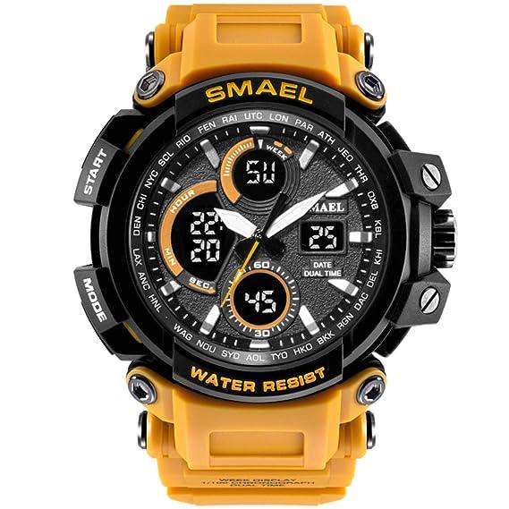 Reloj de pulsera para hombre, analógico, digital, LED, multifunción, resistente al agua, para deportes al aire libre: Amazon.es: Relojes